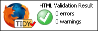 HTML Validates, without errors and warnings